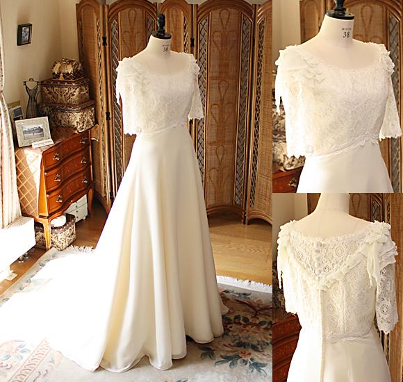 ヴィンテージ オーダーメイドウェディングドレス