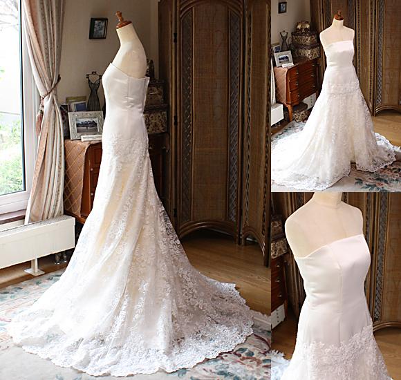 マーメイドラインのウェディングドレス
