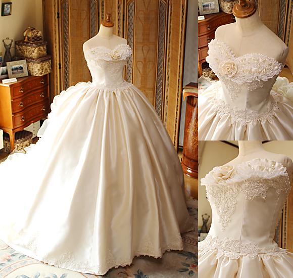 花嫁様に創り上げたオーダーメイドウェディングドレス