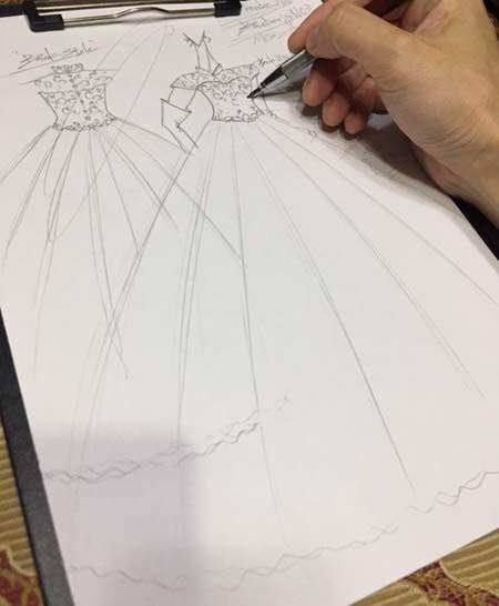 ウェディングドレス オーダーメイド ドレス アンティーク調デザイン
