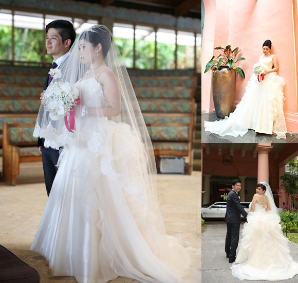 モデルのような花嫁姿を演出するフルオーダーメイドウェディングドレス
