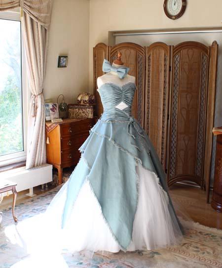 ウェディングドレス デニム