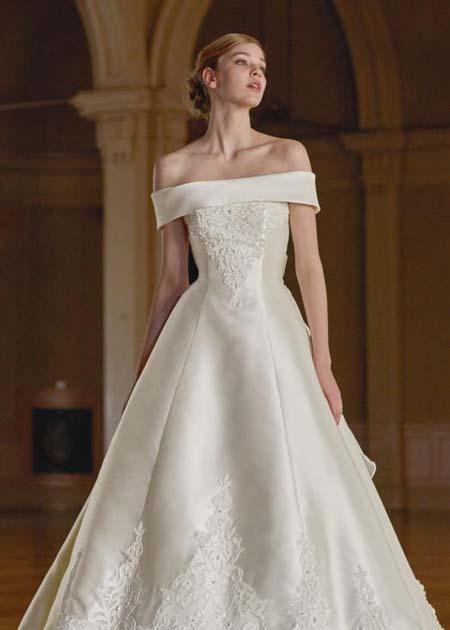 ロールカラー ウェディングドレス 2WAYドレス