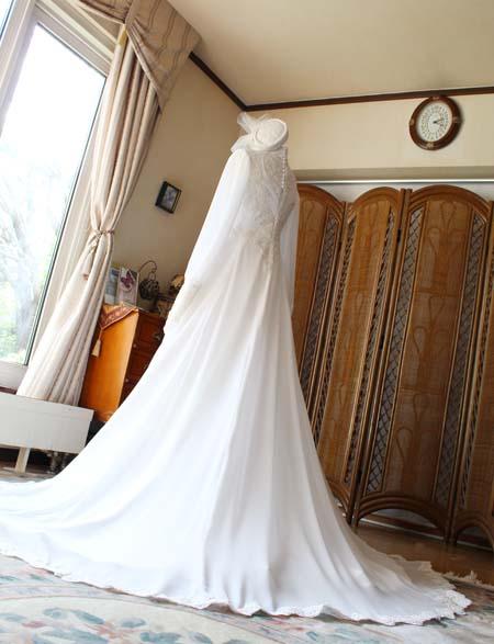 スカートシルエット オーダーメイドウェディングドレス