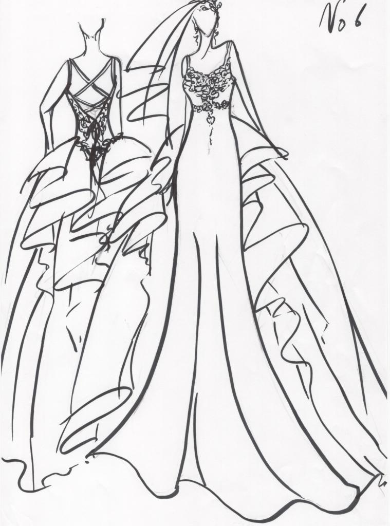ウェディングドレスのデザイン画 フルオーダーメイドウェディングドレス