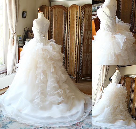 フルオーダーメイドウェディングドレス オーバースカート