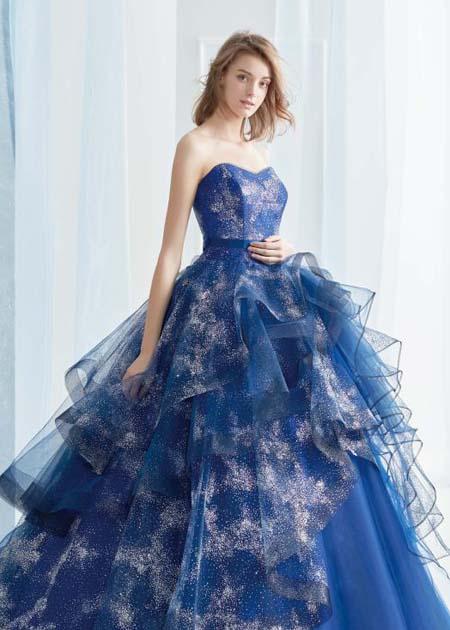 夜空の星空を連想するドレス