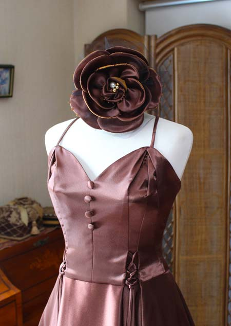 ハートのトップスデザイン コサージュのヘッドドレス