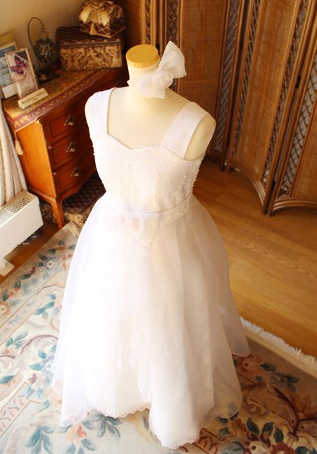 演奏者向けのロングドレス オフホワイト