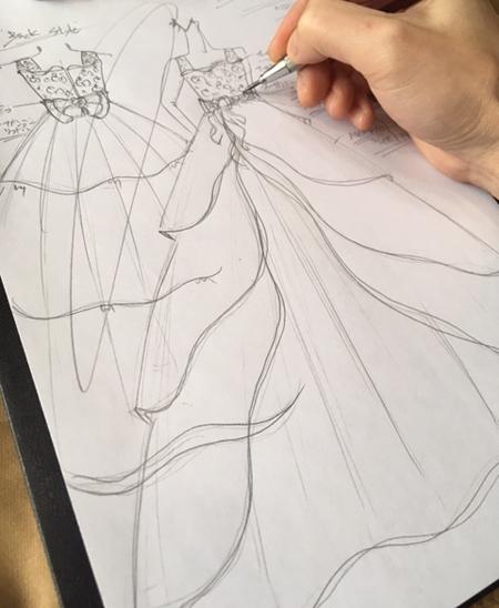 ピアノのコンチェルトドレス