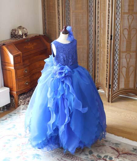 演奏者用ドレス 小学生ドレス ブルー