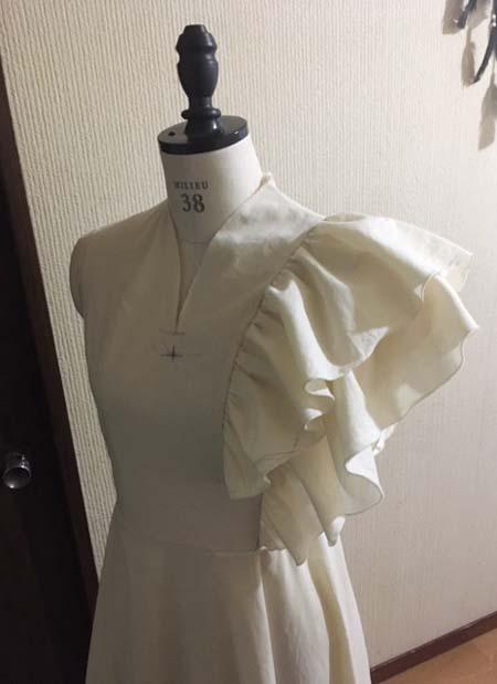ロングドレスをオーダーメイド製作 北海道札幌市のお客様