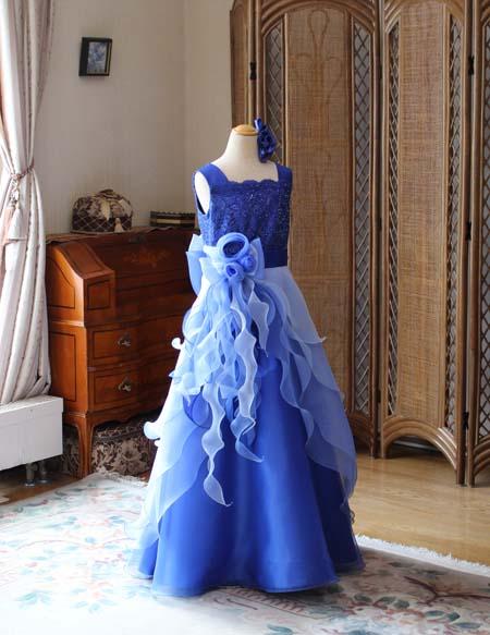 入賞者記念コンサートドレス ブルー