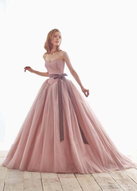 カクテルドレス お色直しカラードレス ピンク レンタル