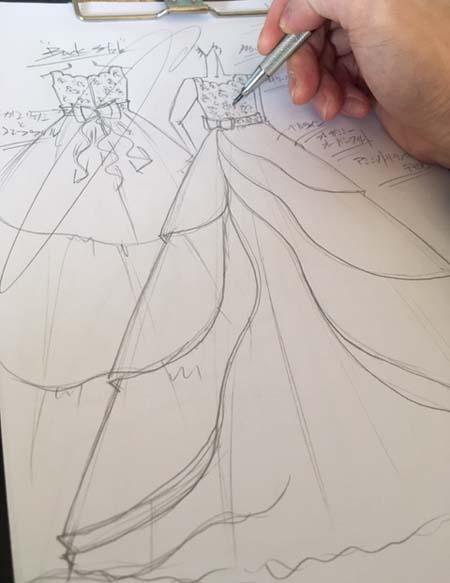 お客様のイメージを構成するドレスのデザイン