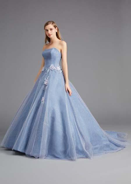 プリンセスライン カクテルドレス ブルー