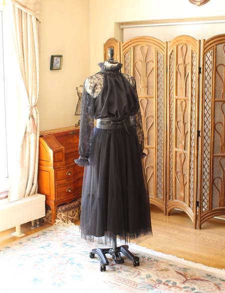 お客様に創り上げたブラックフォーマルドレス 札幌