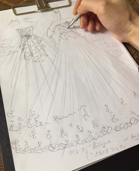 ウェディングドレス レインボーカラー  お色直しカラードレス オーダーメイド 札幌のお客様