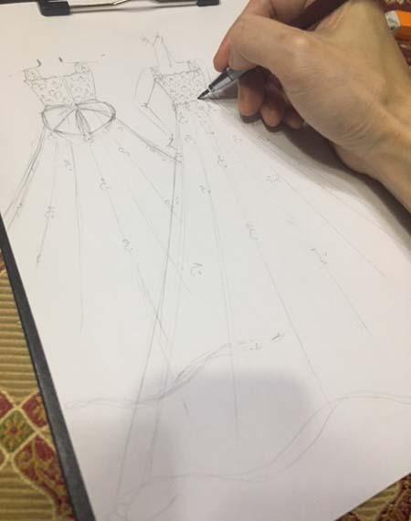 お子様のイメージを叶えるデザイナーズドレス デザインの立案
