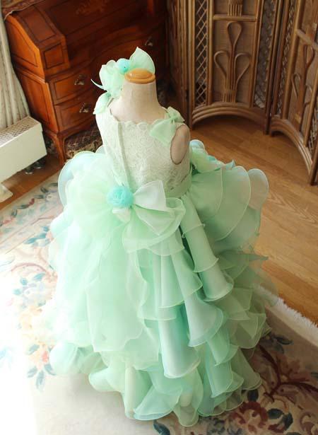豪華なフリルとオーバースカートドレス オーダーメイド