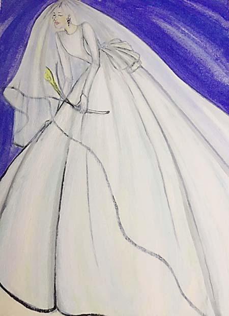 ウェディングドレスのデザインイメージ チーフデザイナー