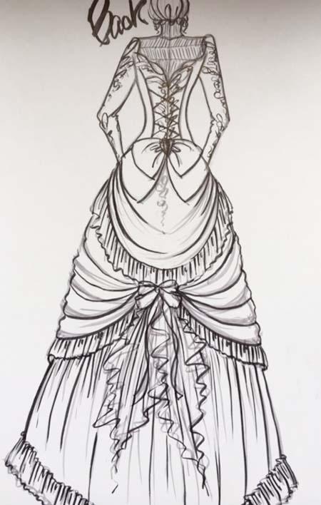 オーダーメイド ヴィンテージドレス デザイン画