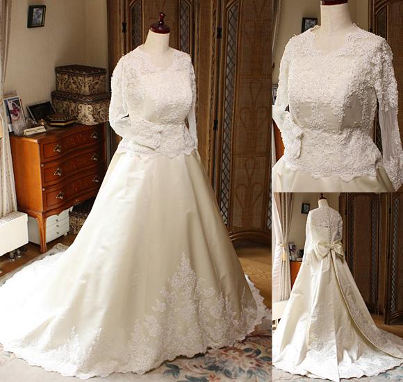 ロイヤルウェディング 花嫁様に創り上げたウェディングドレス