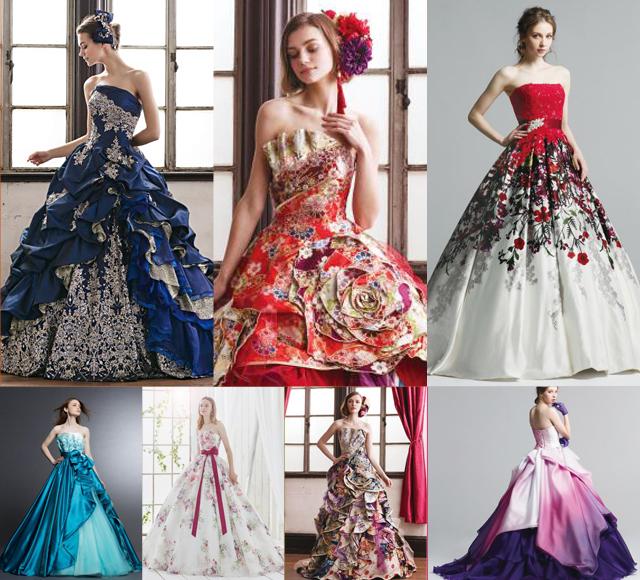 ウェディングドレスからカクテルドレス選び お色直しカラードレス