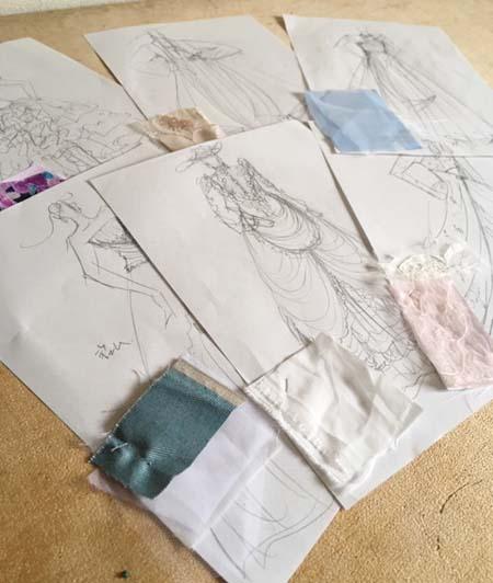 ウェディングドレスとカクテルドレスのデザイン