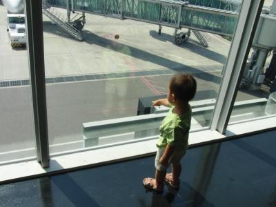 神戸空港で初飛行機