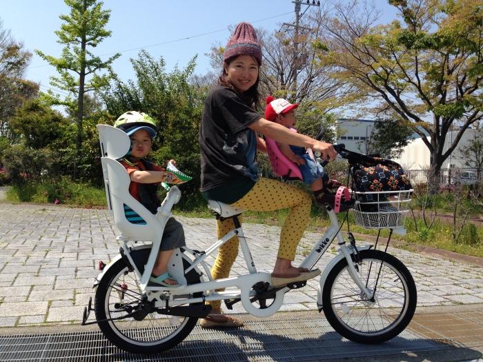 ... 前子供乗せ)を付けた自転車