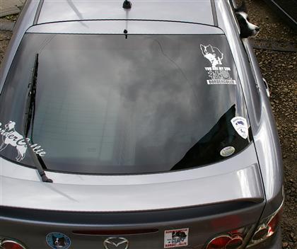 アテンザスポーツ23Z。4年ほど前に新車で購入。この車がこの値段で良かったの?って感じで、走り、内装共に気に入っています。マツダはあまりメジャーじゃないみたいだけど、好きだ〜!