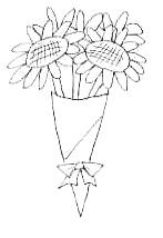 ひまわりの花束(小)