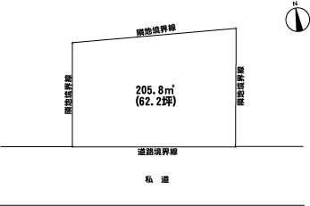 遠刈田温泉売土地敷地図