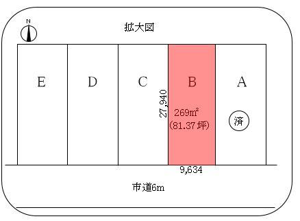 交り江土地B敷地図