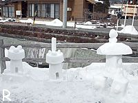 雪灯籠その1