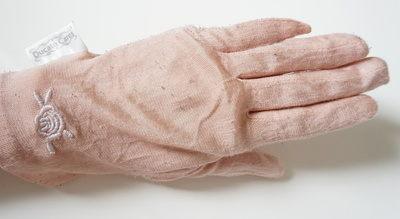 デュカート シルク手袋ローズ柄