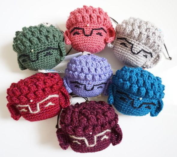 編み大仏巾着・ポーチ
