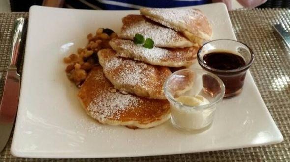 ザ・ロイヤル・ハワイアン・ラグジュアリーコレクションリゾート【朝食】パンケーキ