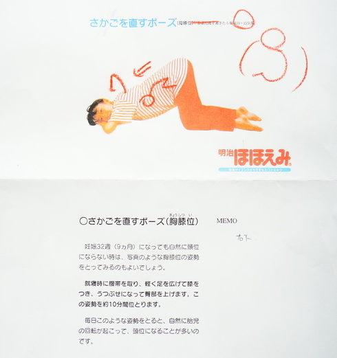 逆子体操【さかごを直すポーズ(胸膝位】