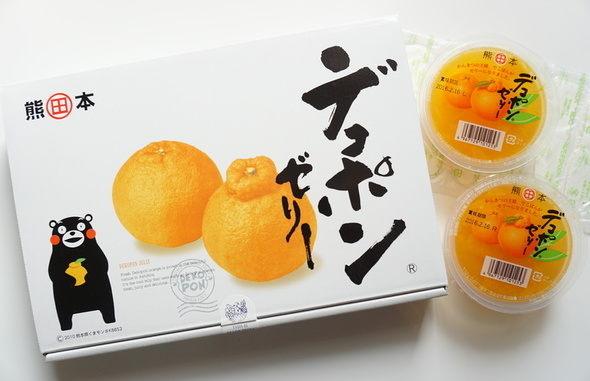 熊本県産デコポン使用【芦北のデコポンゼリー】くまモンパッケージ