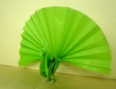 簡単 折り紙:折り紙 孔雀 折り方-origamiclub.jugem.jp
