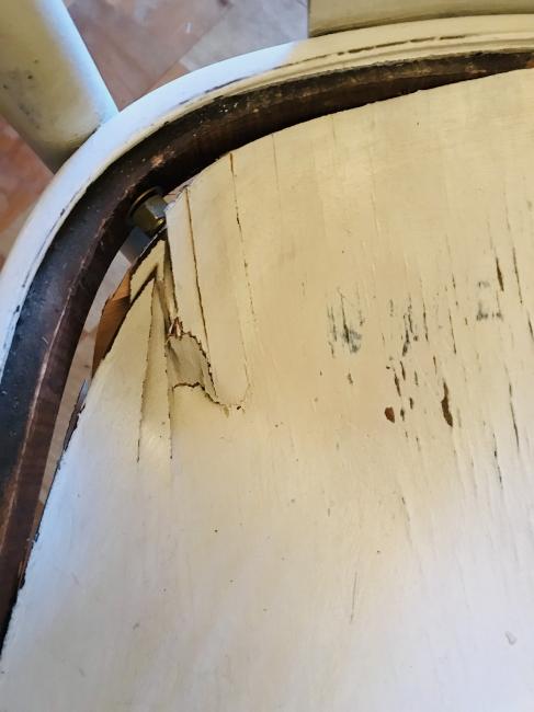 椅子 座面の修理