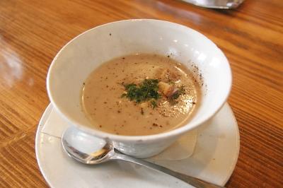 原木しいたけのスープ