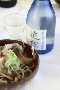 おろしそばと日本酒