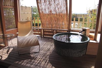 露天風呂付の旅館