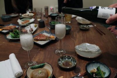 鮭児と祝い酒