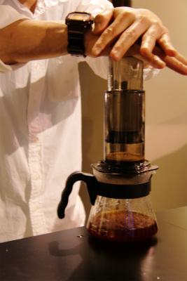 フォーバレルコーヒーをエアロプレスで