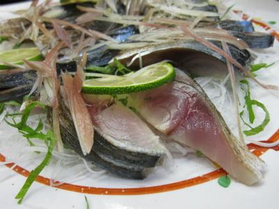 しめ鯖の炙り