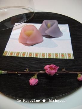 雛の生菓子(京菓子司 芳光製) 漆盆 by 赤木明登